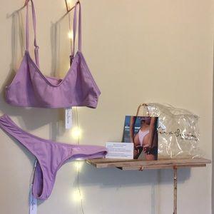 KIRA swim lavender ribbed bikini set